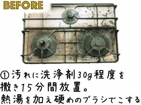 洗浄前ガスコンロのイメージ